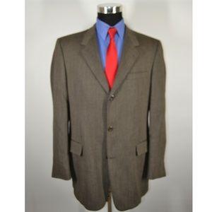 Kenneth Cole 43L Sport Coat Blazer Suit Jacket Bro